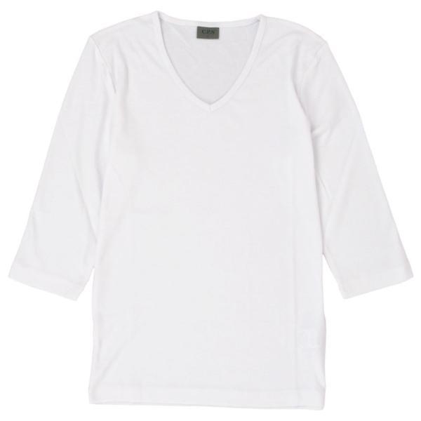 Tシャツ メンズ 半袖 無地 カットソー Vネック インナー メンズ 7分袖 半袖Tシャツ ストレッチ フライス トップス 七分袖 おしゃれ オシャレ セール|leadmen|33