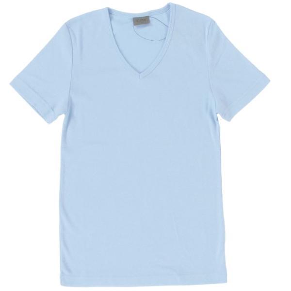 Tシャツ メンズ 半袖 無地 カットソー Vネック インナー メンズ 7分袖 半袖Tシャツ ストレッチ フライス トップス 七分袖 おしゃれ オシャレ セール|leadmen|32