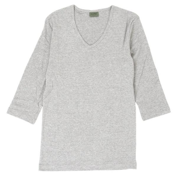 Tシャツ メンズ 半袖 無地 カットソー Vネック インナー メンズ 7分袖 半袖Tシャツ ストレッチ フライス トップス 七分袖 おしゃれ オシャレ セール|leadmen|36