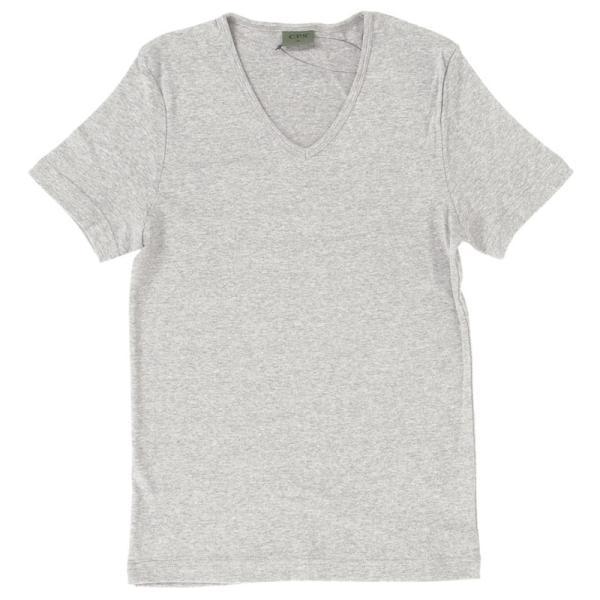 Tシャツ メンズ 半袖 無地 カットソー Vネック インナー メンズ 7分袖 半袖Tシャツ ストレッチ フライス トップス 七分袖 おしゃれ オシャレ セール|leadmen|25
