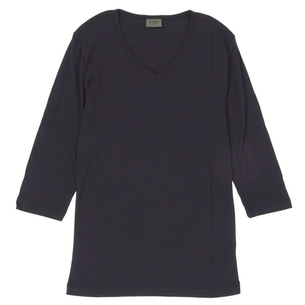 Tシャツ メンズ 半袖 無地 カットソー Vネック インナー メンズ 7分袖 半袖Tシャツ ストレッチ フライス トップス 七分袖 おしゃれ オシャレ セール|leadmen|38