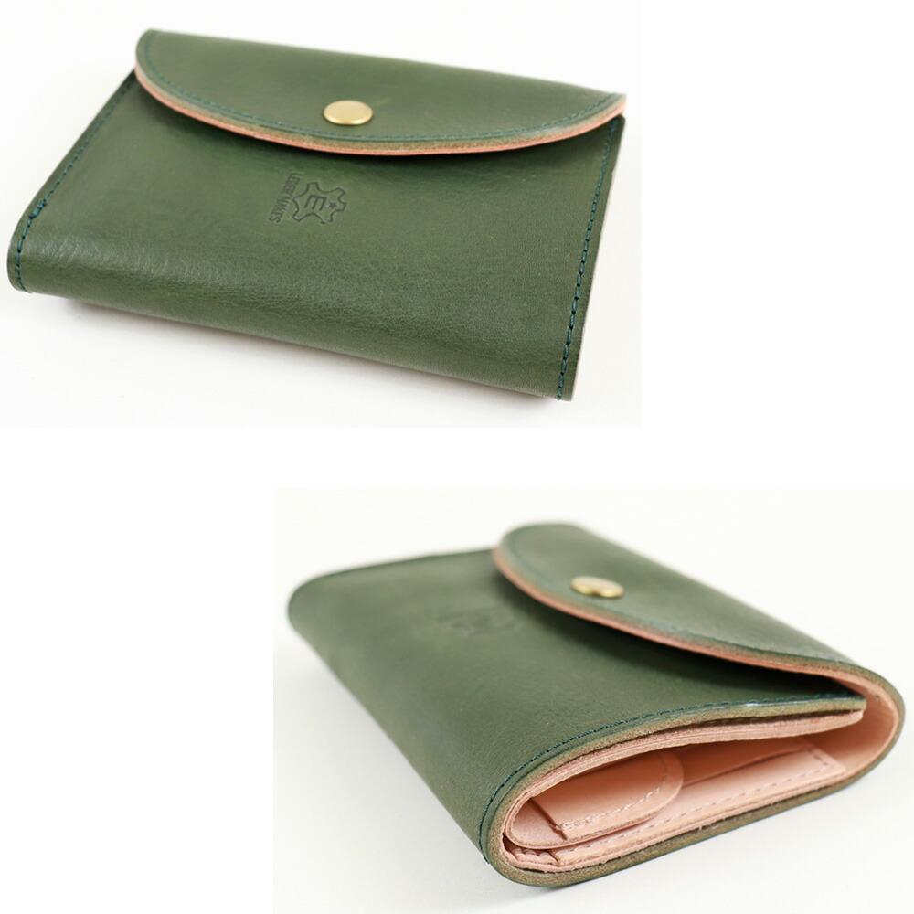 栃木レザー 3つ折りミニ財布