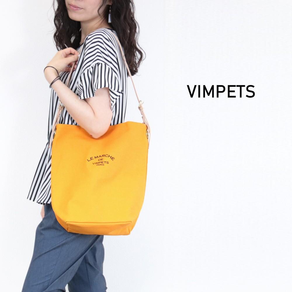 VIMPETSレザーベルトキャンバスショルダーバッグ