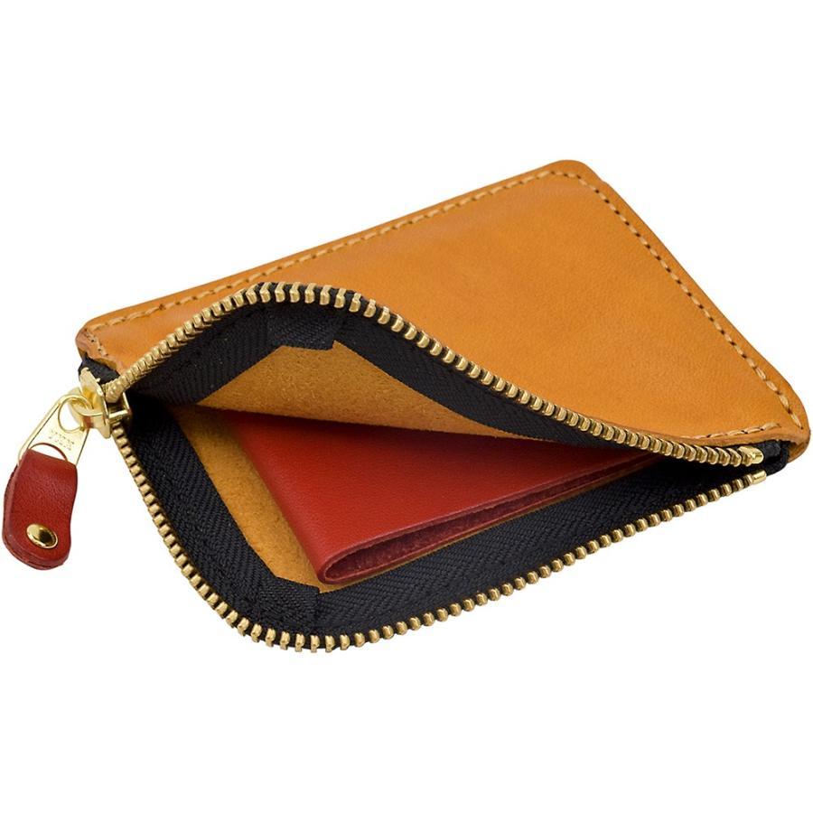 栃木レザー ショートウォレット オリジナルマルチカラー OM バイカラー 短財布 日本製 薄い 小銭入れ コインケース ポケット財布 TDSG-1002OM|leather-z|18