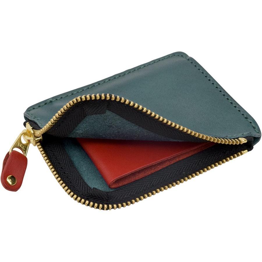 栃木レザー ショートウォレット オリジナルマルチカラー OM バイカラー 短財布 日本製 薄い 小銭入れ コインケース ポケット財布 TDSG-1002OM|leather-z|16