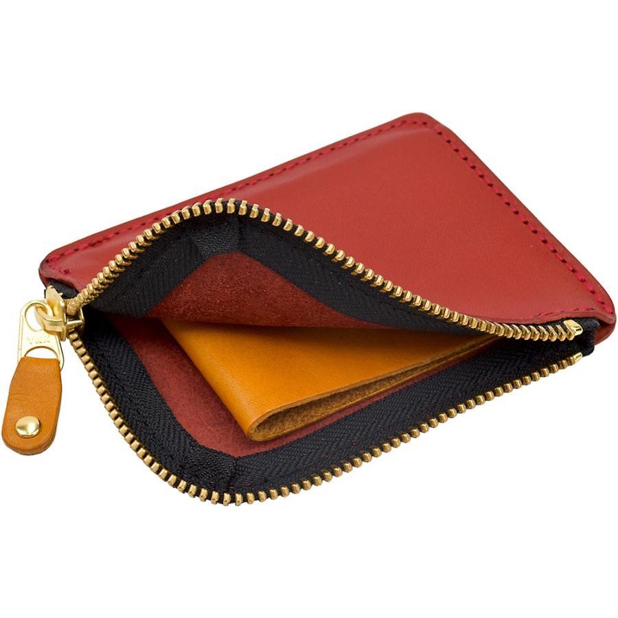 栃木レザー ショートウォレット オリジナルマルチカラー OM バイカラー 短財布 日本製 薄い 小銭入れ コインケース ポケット財布 TDSG-1002OM|leather-z|20
