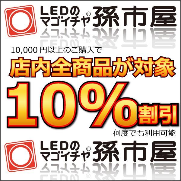 何度でも利用可能!LEDの孫市屋 10%OFFクーポン