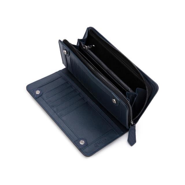 長財布 メンズ 財布 二つ折り ブランド カーボン レザー 大容量 スマホ も入る 多機能 レガーレ|legare-factory|24