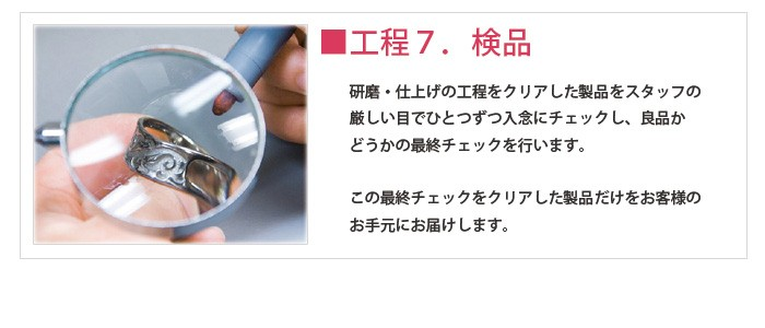 【チタンアクセサリー レジエ】検品