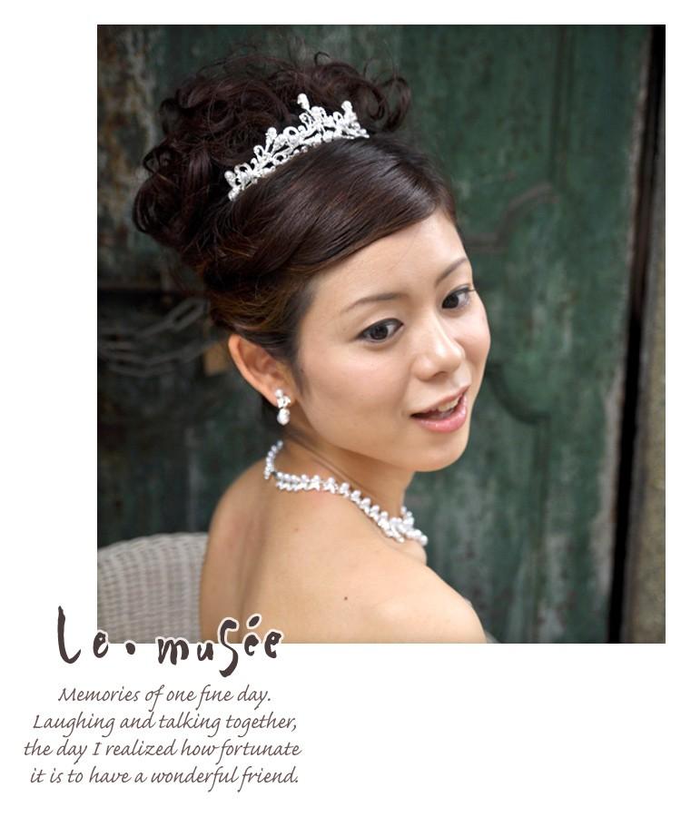 【ヘッドドレス(髪飾り)】 ティアラ ホワイトプリンセス