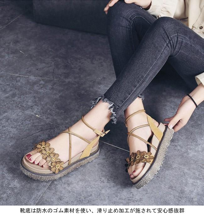 1595685363438 PU質の花柄のカッティングもとてもレトロで甘い雰囲気で魅せる靴底は防水のゴム素材を使い、滑り止め加工が施されて安心感抜群日常の外出でもビーチサンダルとしても  ...