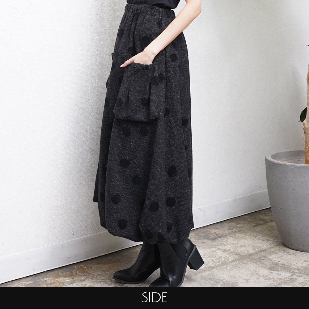 ドットバルーンスカート