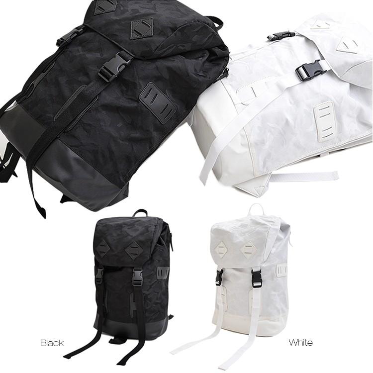 カモフラージュバックパック 迷彩 カモフラージュ 通勤 通学 ブラック ホワイト モード 白 黒 A4 リュック ジャガード カモフラージュ カモフラ 迷彩 大容量 機能性 デザイン性