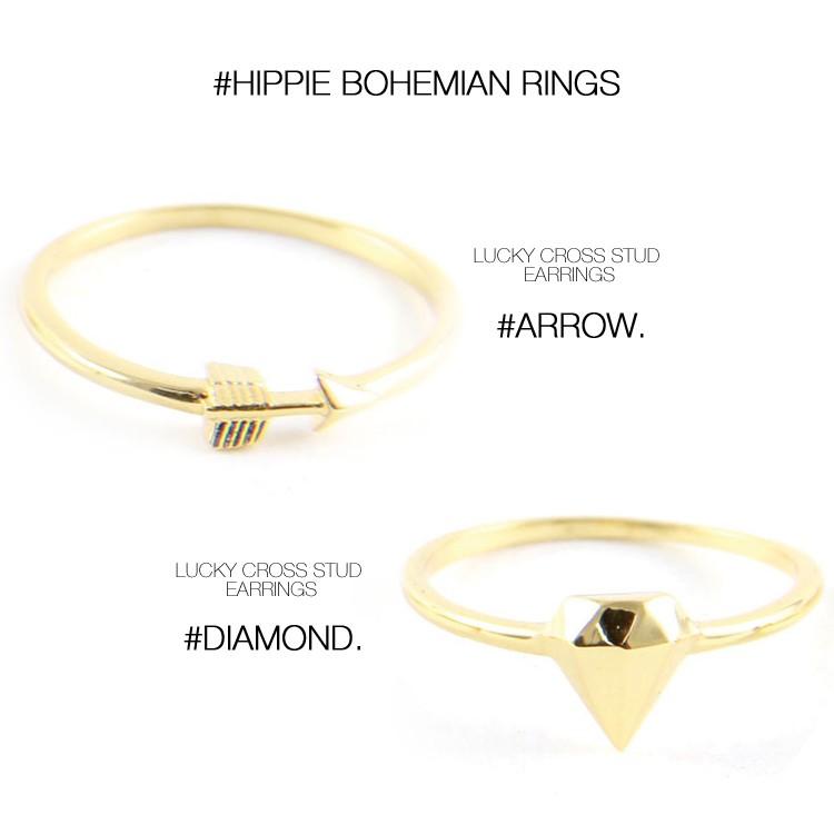 ettika エティカ 指輪 リング ゴールド モチーフ レディース 小ぶり 小さい ボヘミアン ヒッピー LA アメリカ セレブ 海外 インポート NY