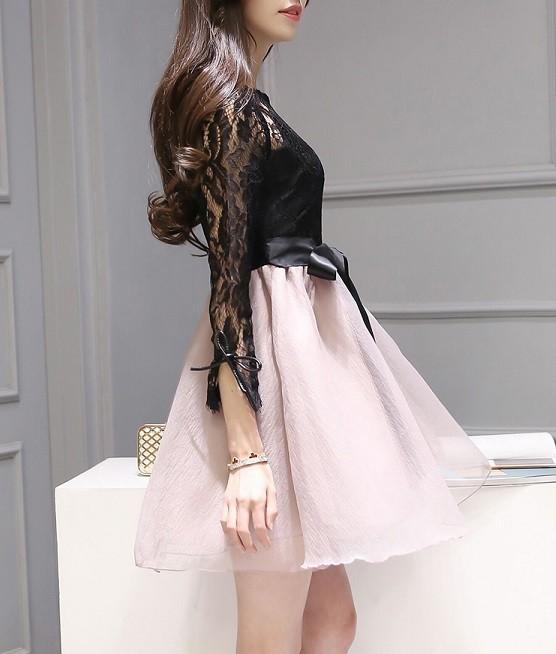 d93021d7711 パーティードレス 韓国ワンピース 花柄 フラワー ボタニカル ドレス ...