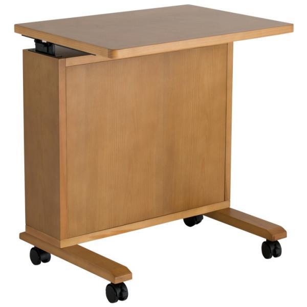 昇降式 テーブル サイドテーブル 木製 ソファサイド キャスター付 ベッド|life-styling-shop|11