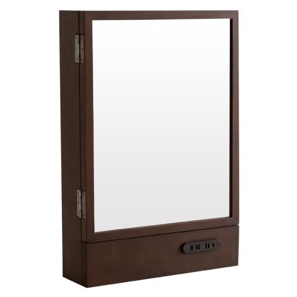 ミラー 卓上 机用 鏡 一面鏡 木製 シンプル 鏡台 化粧台 コンセント付き|life-styling-shop|19