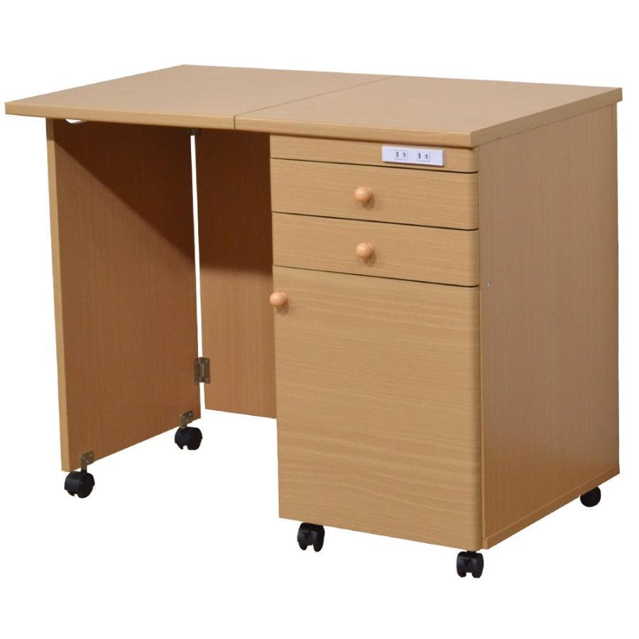 ミシン台 折りたたみ テーブル 作業台 デスク ワークデスク 収納 引き出し|life-styling-shop|12