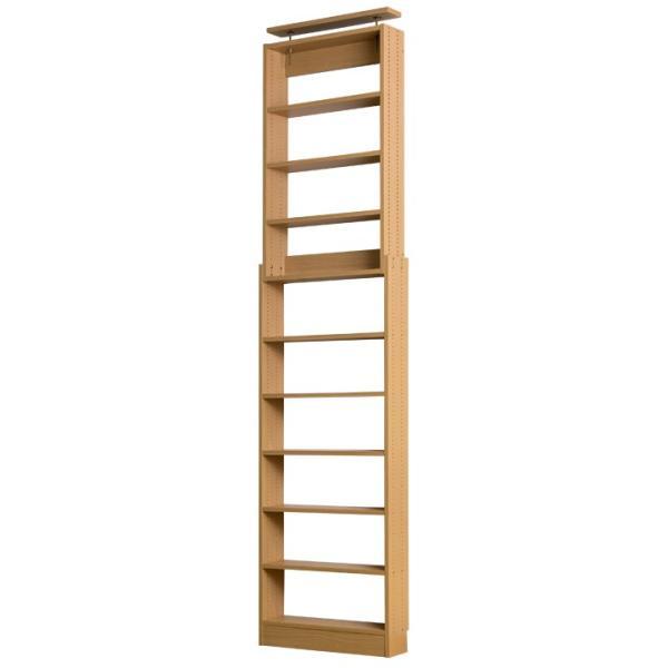 本棚 薄型 大容量 605cm つっぱり 壁面収納 スリムラック 漫画 収納 書棚|life-styling-shop|07
