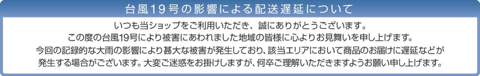 台風19号による配送遅延