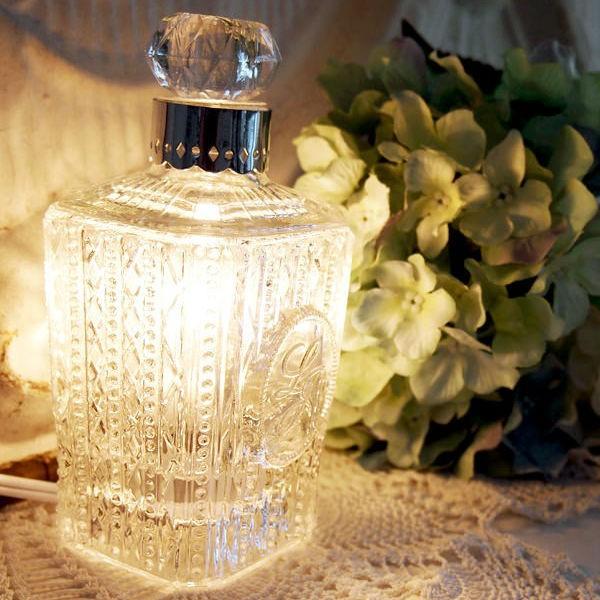 香水瓶のようなアロマライト