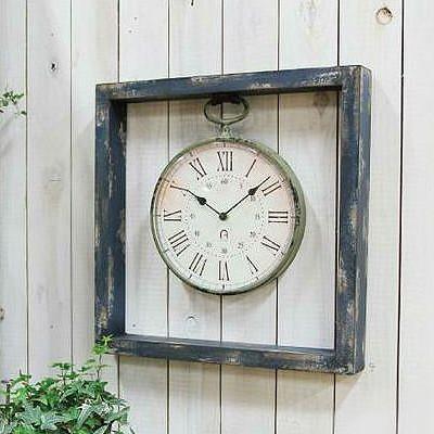 スクエアフレームクロック 掛時計