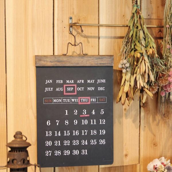 ブラックボード 万年カレンダー 黒板