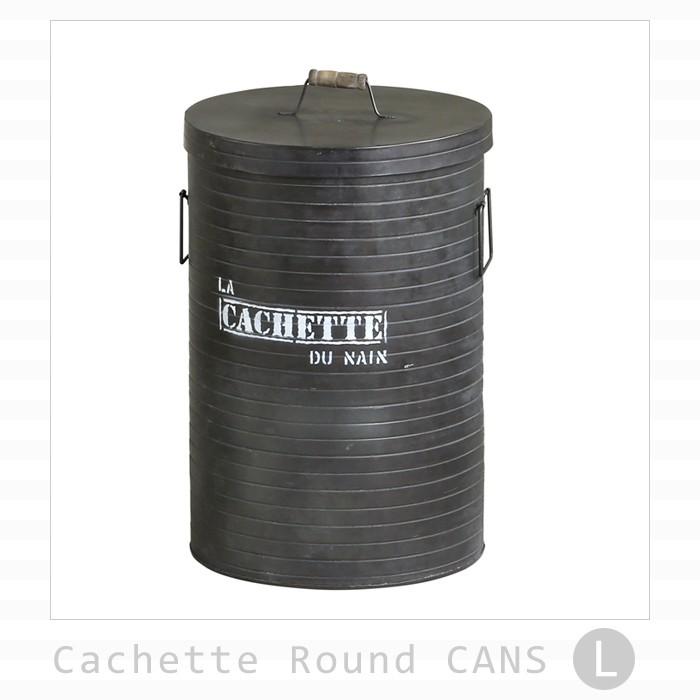 カシェット ラウンドカン メタル缶 Lサイズ