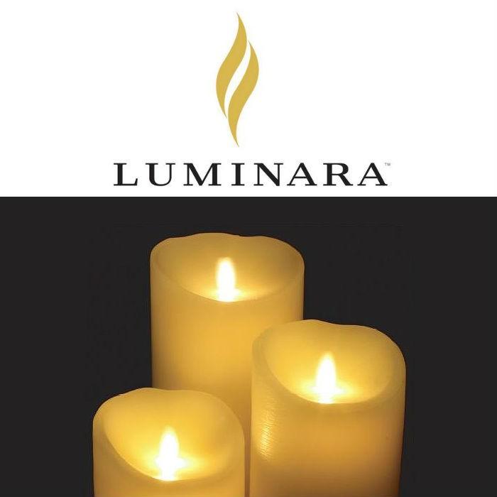 キャンドル形LEDライト ピラー LUMINARA Lサイズ ギフトボックス付き