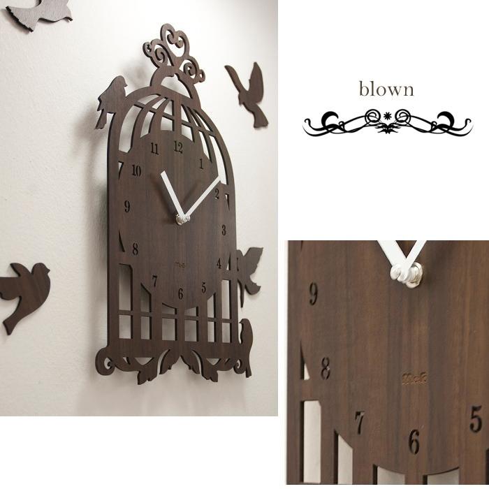 壁掛け時計 BIRD HOUSE