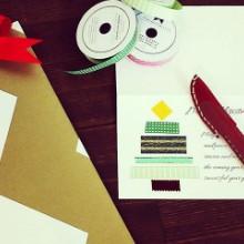 クリスマスラッピング クリスマスカード