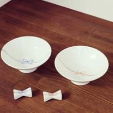 夫婦茶碗箸置きセット結び日本製
