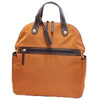 本革×軽量ナイロン l1465-オレンジ