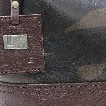 本革×カモフラ(迷彩柄)A4カジュアル2wayトートバッグL1923-素材