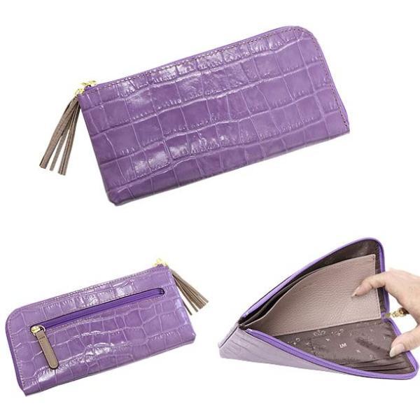 4a442b6240fe 長財布 レディース L字 ファスナー 本革 日本製 スリム 軽い プレゼント ...