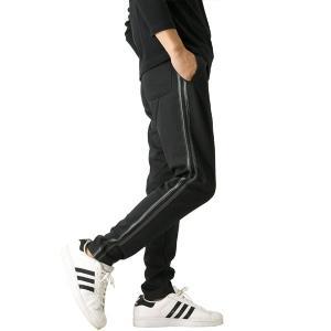 ジャージパンツ メンズ サイドライン パンツ ジャージ 2本ライン ライン入り スポーツ トレーニング ジョガーパンツ 送料無料 通販A3|メンズファッションリミテッド