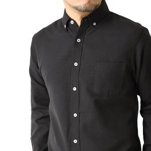 シャツ メンズ 長袖 ボタンダウンシャツ 白シャツ オックス 無地  ビジネス ワイシャツ バンドカラー デュエボットーニ r3g-0793 通販M15 メンズファッションリミテッド