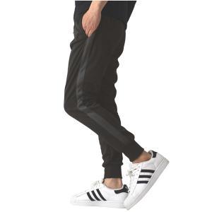 ジャージパンツ メンズ ストレッチ ジャージ 下 UPF50+ UVカット ジョガーパンツ スキニー トレーニング スポーツ ライン入り 送料無料 通販A3|メンズファッションリミテッド