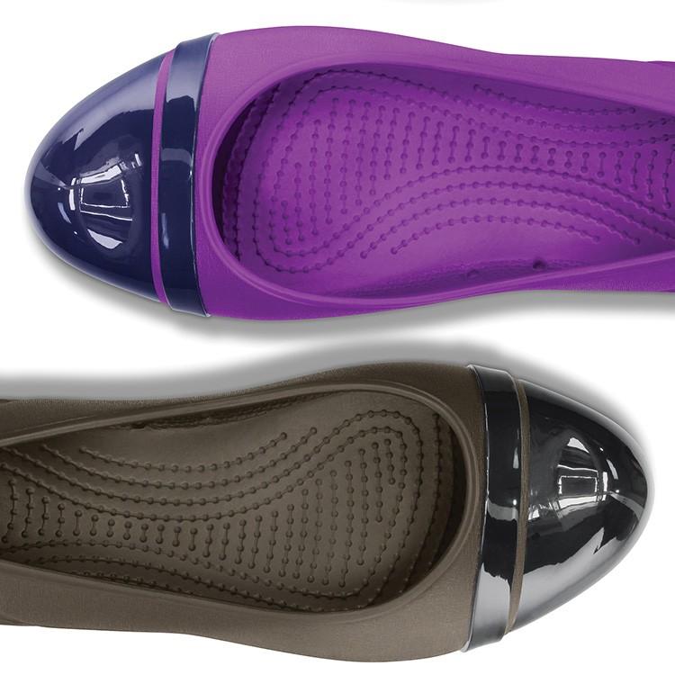 【正規代理店】【crocs】【クロックス】captoeflatwキャップトゥフラットウィメンズ正規品