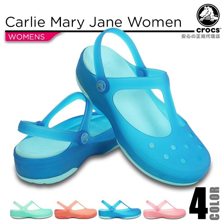【crocs】【クロックス】【正規代理店】carlie mary jane w カーリー メリージェーン ウィメンズ 正規品 レディース カジュアル サンダル フラット シューズ