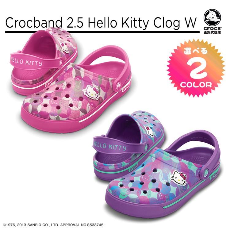 【正規代理店】【crocs】【クロックス】crocband 2.5 hello kitty clog w クロックバンド 2.5 ハローキティ クロッグ ウィメンズ 正規品 サンリオ キャラクター かわいい キティちゃん バックストラップ付 レディース サンダル