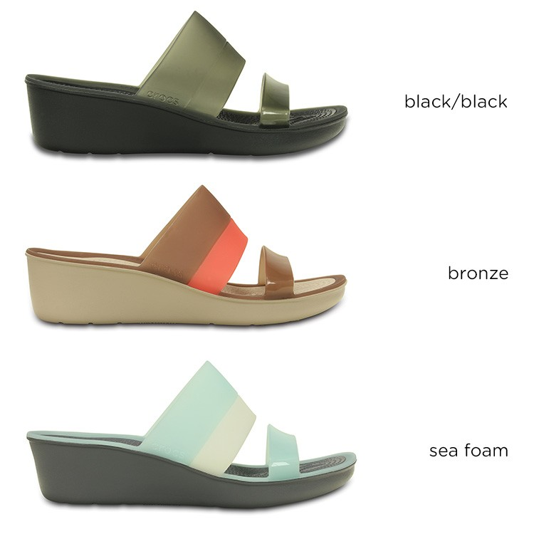 【crocs】【クロックス】【正規代理店】colorblock wedge w カラーブロック ウェッジ ウィメンズ 正規品 レディース 女性用 サンダル カジュアル オープントゥ ウェッジソール ローヒール スライド スリッパー 上履き 春夏モデル