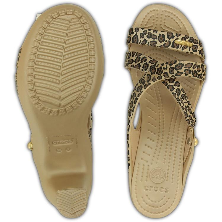 【crocs】【クロックス】【正規代理店】cyprus 4.0 leopard heel w サイプラス 4.0 レオパード ヒール ウィメンズ 正規品 レディース カジュアル ヒョウ柄 豹柄 ハイヒール サンダル 女性用 安定感 太ヒール アニマル柄 春夏モデル