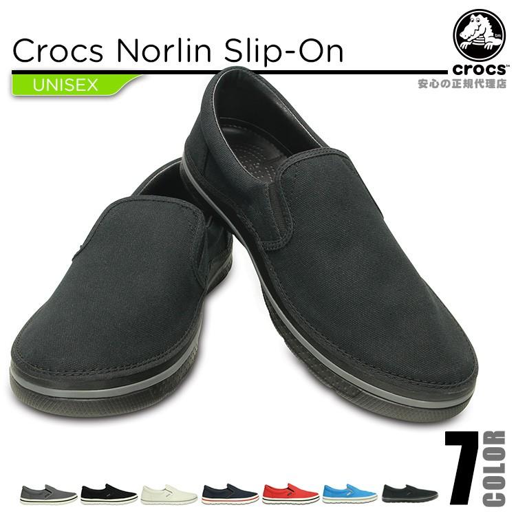 【crocs】【クロックス】【正規代理店】crocs norlin slip-on クロックス ノーリン スリップオン 正規品 レディース メンズ カジュアル フーバー スニーカー サンダル ユニセックス ぺたんこ フラットシューズ 運動靴