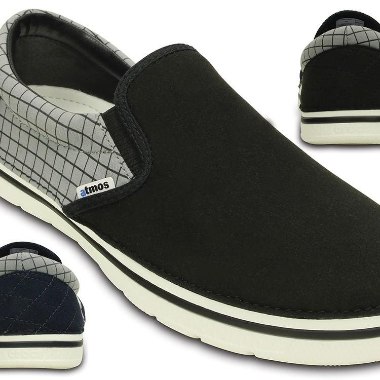 【crocs】【クロックス】【正規代理店】crocs norlin atmos pinstripe slip on クロックス ノーリン アトモス ピンストライプ スリップオン 正規品 レディース メンズ カジュアル フーバー スニーカー サンダル ユニセックス ぺたんこ フラットシューズ 運動靴