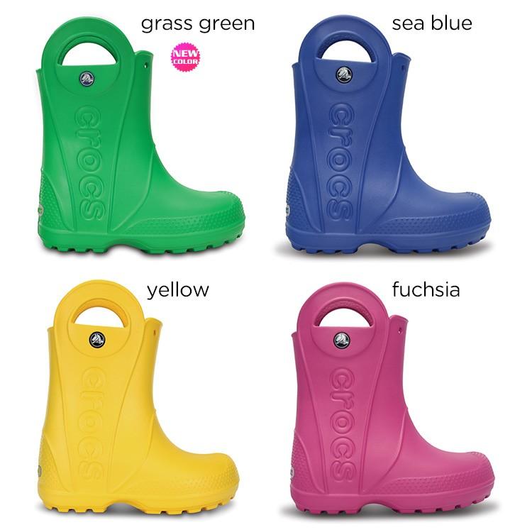 【crocs】【クロックス】【正規代理店】handle it rain boot kids ハンドル イット レインブーツ キッズ 正規品 キッズ ジュニア 子供用 男の子 女の子 ボーイズ ガールズ 長靴 カジュアル フラット シューズ