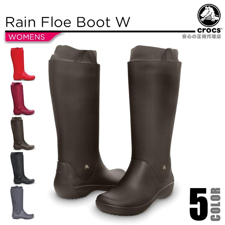 【正規代理店】【crocs】【クロックス】rainfloebootwレインフローブーツウィメン正規品