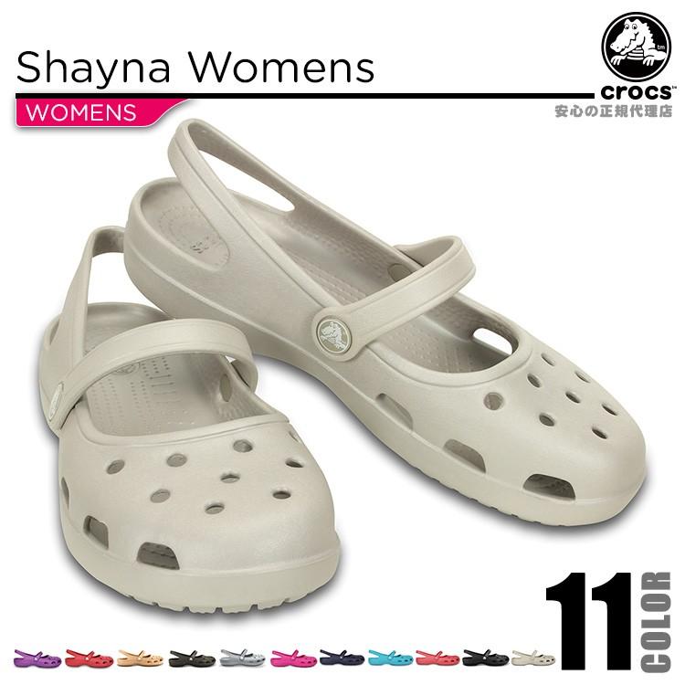 【crocs】【クロックス】【正規代理店】shayna womens シャイナ ウィメンズ 正規品 バックストラップ付 ウィメンズ カジュアル レディース サンダル フラット シューズ