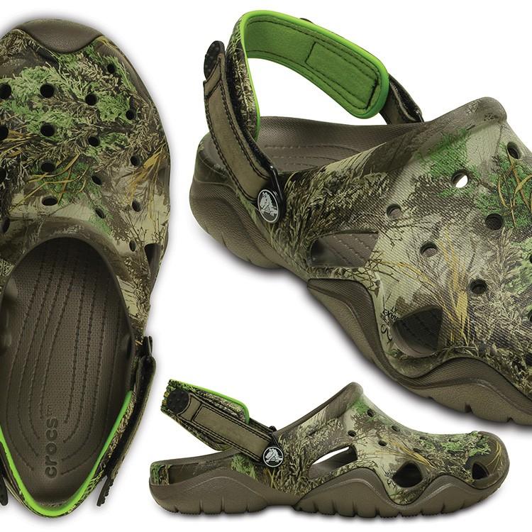 【crocs】【クロックス】【正規代理店】swiftwater realtree max-1 clog スウィフトウォーター リアルツリー マックス-1 クロッグ 正規品 男性用 カジュアル サンダル 運動靴 ぺたんこ フラットシューズ