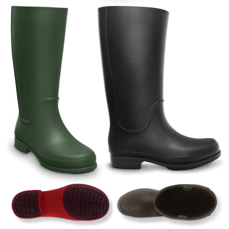 【crocs】【クロックス】wellie rain boot ウェリー レインブーツ 正規品 レディース ウィメンズ 女性用 カジュアル 長靴 ペタンコ フラット シューズ 秋冬モデル